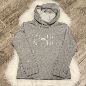 Under Armour Hooded Gray Sweatshirt Size XS